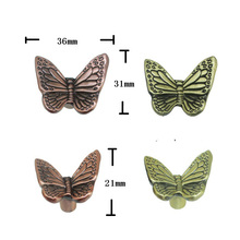 Butterfly Knobs Pulls Drawer Kitchen Cabinet Knobs Antique Bronze Decorative Furniture Knob Pull Hardware(China)