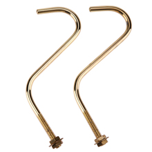 2pcs Gold Snooker Billiard Table Board Cue Hook to Hold Bridge Stick Pool Rack Brass Pool Table Hook for Bridge Rack Storage(China)