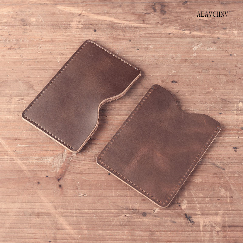 Handmade leather goods leather card bag bus card protective cover complex Sen Department of thick leather card sets A030(China)