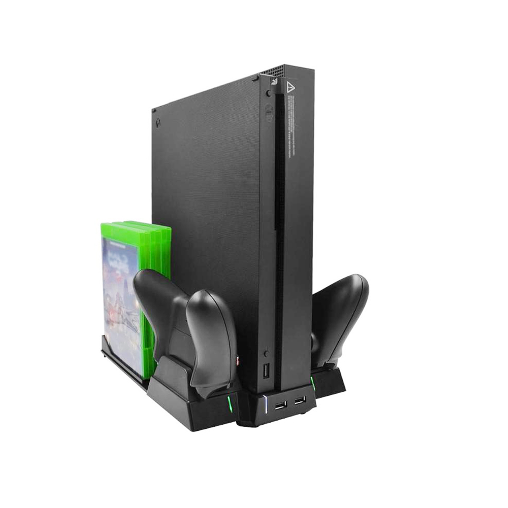 Alloyseed-Multi-Functional-Charging-Stand-Station-for-Xbox-One-X-Game-Console-with-Dual-Cooling-Fan