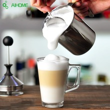 Home Milk Decor Frother Cappuccino 800mL Stainless Steel Milk Creamer Foam Single Double Mesh