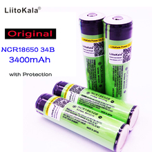 2017  Liitokala For Panasonic 18650 3400mah battery Protected  li-ion  Rechargeable battery NCR18650B with PCB