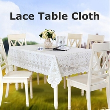 2017 New Fashion 1 PCS (55*79in) Lace European Style Hollow Out Table Cloth White Decorate Rectangle Knitted Tablecloths