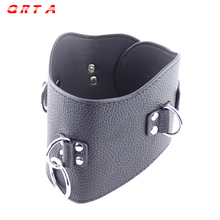 Buy QRTA Black Leather Posture Collar Pull Ring Adjustable Lockable Belt Slave Fetish Bondage Neck Strap Harness Sex Toy for $8.56 in AliExpress store