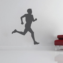 Runner Vinyl Wall Stickers Artistic Design Wall Decal Decor Boys Teens Wallpaper Available In Different Colors Wall Tattoo SA787