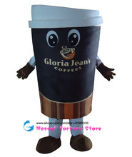 High quality Coffee cup advertising mascot costume adult size clothing apparel