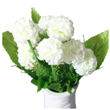 9 Heads 1 Bouquet Artificial Chrysanthemum Silk Flowers Floral Home Garden Decor Color:White