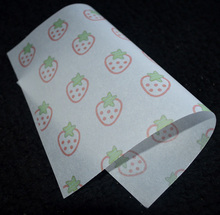 15x21cm,200pcs/lot StrawBerry pattern Handmade Soap Paper gift packing oil/water proof paper