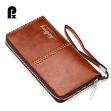 Designer Male Clutch Purse Long Wallets for Men Cool Wallets for Men Best Men Wallet with Zipper Around Multi-functional Wallet(China)