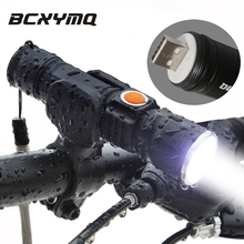 2017 2000 lumen Super Light USB Rechargeable T6 LED Bicycle Light Waterproof Built-in Battery Head Front Bike Light Flashlight