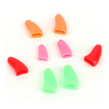 New  20Pcs/Sets Colorful Soft Pet Dog Cats Kitten Paw Claws Control Nail Caps Cover Size XS S M L With Adhesive Glue