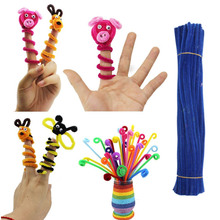 100Pcs Pack Chenille Stems Pipe Cleaners Kids DIY Toys Animals Soft Plush Educational Toy Handicraft Materials For Kids Creative