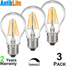 Buy 25W 40W 60W Incandescent Filament Lamp Equal Vintage Warm White E26 Antique Edison Style E27 A60 Dimmable LED Retro Light Bulb for $19.30 in AliExpress store