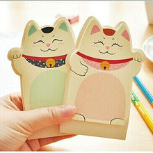 2PC Korean Kawii Cute Lucky Cat Sticky Notes And Memo Pads Paper,3D Desktop Post It Notes N Times Stickers