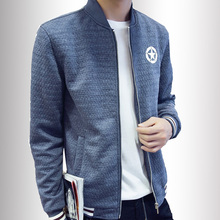 New fashion brand casual knitted jacket men  coats Knitted jacket patchwork spring coat men leisure coat