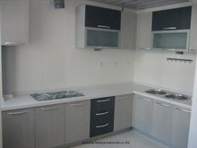 melamine/mfc kitchen cabinets(LH-ME025)(China)
