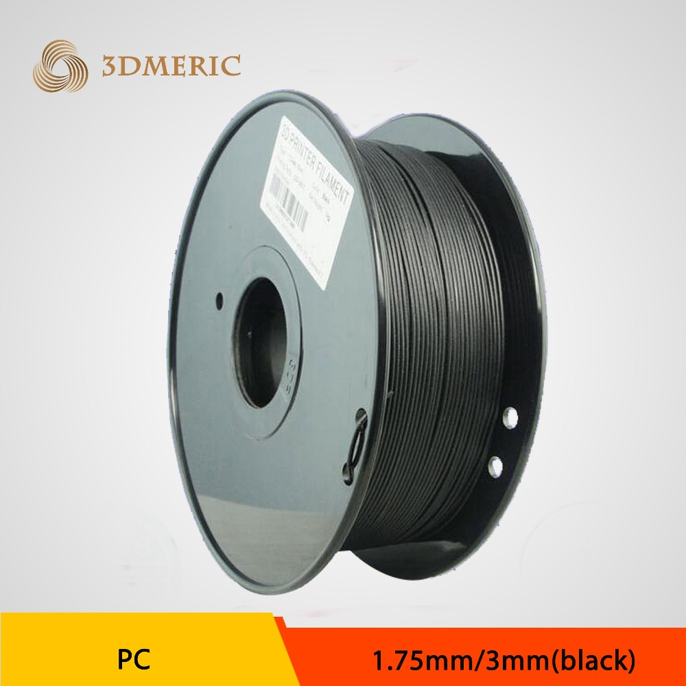 Free Shipping 1.75mm PC 3D Printer Filament for 3D Printing 1kg/roll Natural Clear/Blue/Black Color Plastic filament<br>