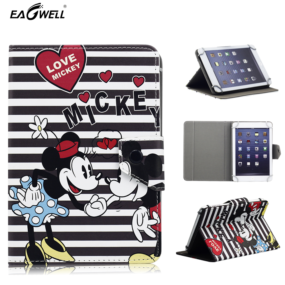 Universal Tablet Case for 9.7 inch 10 inch 10.1 inch Tablet PC Flip Stand Magnetic Cartoon Print PU Leather Cover Funda Para <br><br>Aliexpress