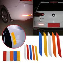 2017 5 Colors 3 Size Reflective Warning Strip Tape Car Bumper Reflective Warning Strip Traffic Safety Stickers Auto Supplies(China)