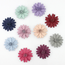 4cm 10pieces Artificial Fabric Daisy Flower Head for Wedding Festive Decoration Baby Girl Hair Accessories