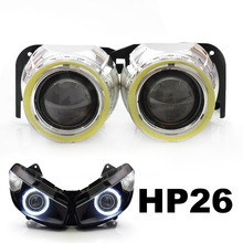 KT LED Angel Halos Eye Projector Lenses Suitable for Kawasaki Z1000SX 2011-2015 2011 2012 2013 2014 2015 2016 HID Headlight Kit(China)