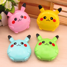 LIUSVENTINA cute Pikachu contact lens case lenses container box glasses