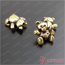 Wholesale 14*13mm Antique Gold color Little Teddy Bear Alloy Charms Pendants Diy Jewelry Findings Accessories 20 Pieces(JM5643)