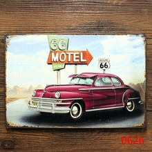 Route 66 motel. tin signs vintage metal plate wall decoration for home bar cafe garage and so on
