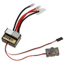 320A ESC Brushed Electric Speed Controller Brush ESC 4.8-7.4V For 1/8 1/10 RC Car Truck Boat For HSP 1/10(China)