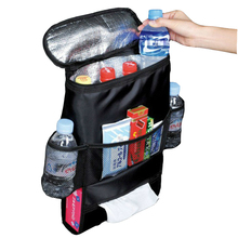 Universal Car Back Seat Organizer Holder Multi-Pocket Travel Storage Hanging Bag Heat/Cold Preservation Auto Interior Accessory(China)