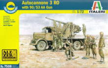 Out of print product! Italeri 7508 1/72 (20mm) Autocannone 3RO w 90/53 AA Gun