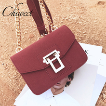 2017 Brand Nubuck leather Messenger Bag Designer Handbags Luxury Gold Buckle Small Crossbody Bags Women Vintage Shoulder Bag