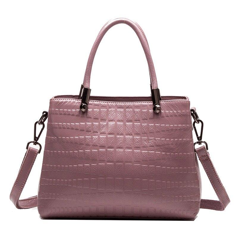 2017 New Womens Genuine Leather Handbag Brand Female Bags Fashion Shoulder Bag Alligator Messenger Bags Ladies Party Handbags<br>