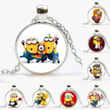 Despicable Me Necklace Minions Movie Themed Character Charm Minion Jewelry Despicable Me Minion pendant Cartoon Cartoon Movie