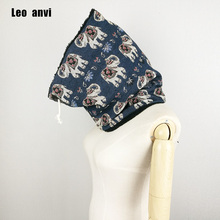 Leo anvi winter ring scarf designer women luxury 2017 print Animal elephant cotton faux fux Keep warm bandana scarf pattern