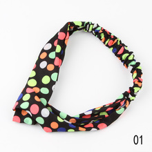 New 2017  Arrival Hot Sale Lovely Retro Cross Vintage Multi-colors Cloth Headband 15 Styles