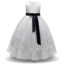 Summer Baby Dress For Girl Clothes Children Prom Gown Designs Kids Costume Lace Flower Wedding Birthday Dress Girl Party Frocks(China)