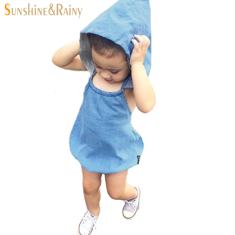 Ins* Baby Denim Rompers Top Quality Girls Jumpsuit Newborn Baby Clothes Toddler Girl Sleeveless Romper Suit Overalls<br><br>Aliexpress