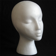2PCS White Styrofoam Foam Mannequin Female Head Model Wig Glasses Hat Display Stand