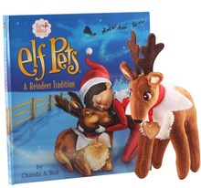 Great Christmas kid gift the elf on the shelf Elf pet reindeer deer elk & hard book