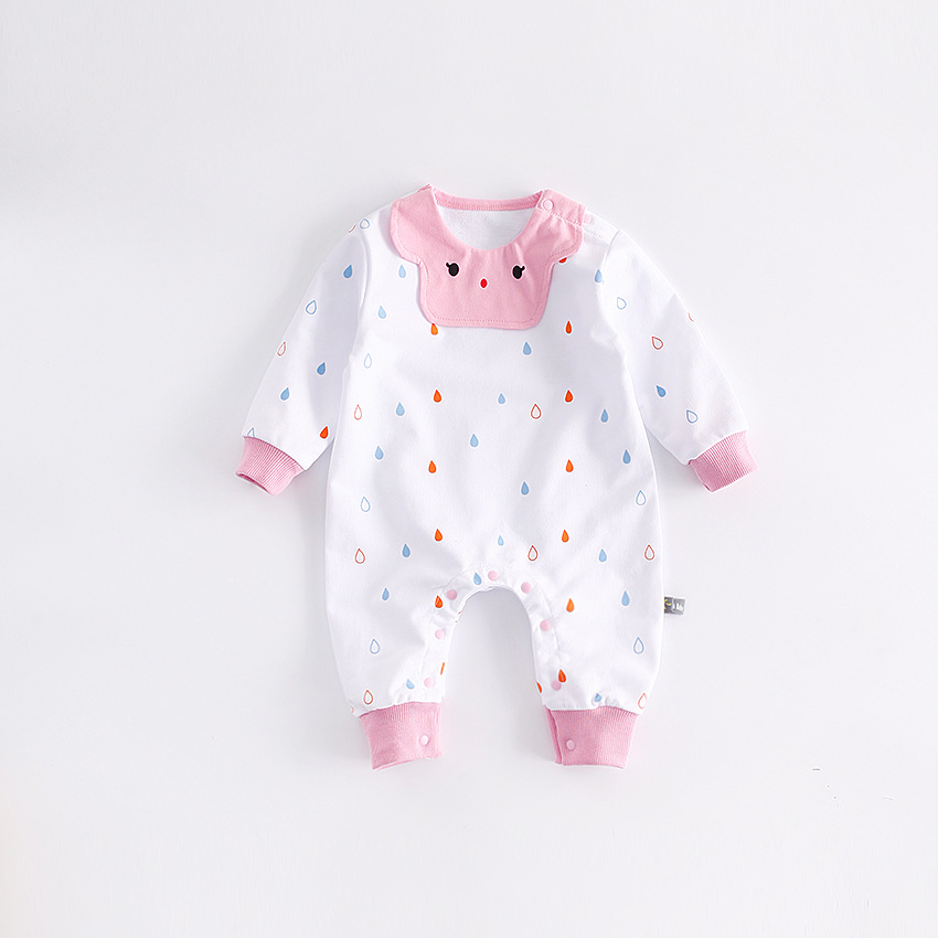 Peninsula Baby 2017 cute baby Girls rompers raindrop soft Spring baby jumpsuits long sleeve breathable newborn baby clothes<br>