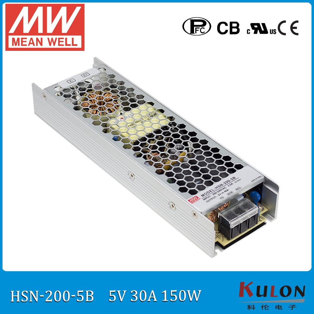 Original Meanwell HSN-200-5B input 220V to 5V 200W 40A conformal coated power supply slim moving sign panel power supply <br>