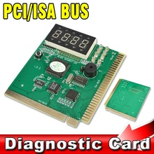 PC Computer Mother Board Debug Post Card Analyzer PCI & ISA Motherboard Tester Diagnostics Display 4-Digit
