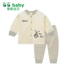 2pcs Baby Set Cotton Winter Baby Clothing Set Outfits Bebes Suits Warm Tops Pants Infant Newborn Baby Boy Clothes Winter Sets(China)