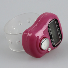 FSLH-Mini LCD Electronic Digital Display Finger Hand Tally Counter Counting Pink(China)