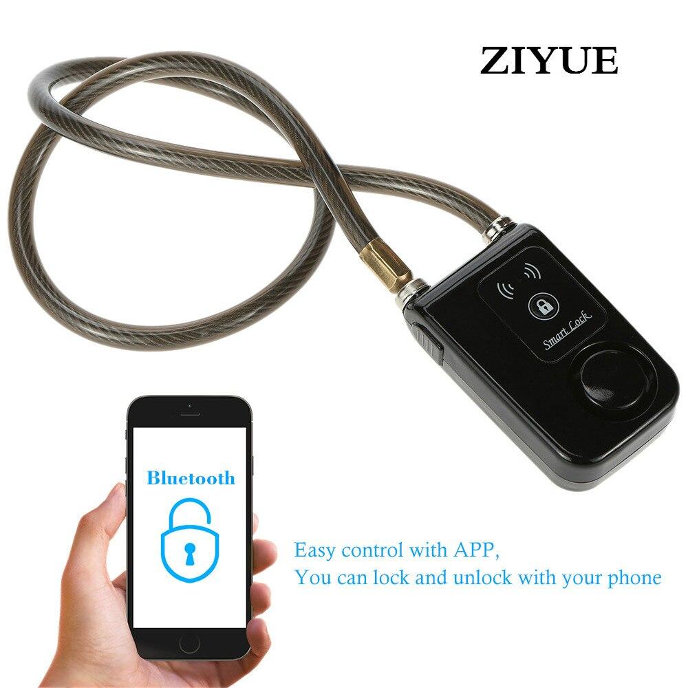 Free Shipping Intelligent Smart Waterproof Door Window Bluetooth Lock Chain Anti Theft Alarm Keyless Phone App Control<br>