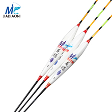 JIADIAONI 2017 3Pieces/lot with box Carp Fishing Float Long Tail Barguzinsky Fir Deep Water Float Fishing Tackle Fishing Bobber