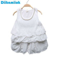 Sale Baby Girls Dress Princess White Chiffon dress for Girls Clothing Summer Children's clothes Toddler Girl Dresses Kids 0-24M