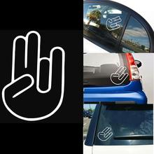 Vehemo Hand Fingers Shocker Design Paper Decal Waterproof Fashion Car Sticker For Car Auto Van Vehicles Decoration Car styling(China)