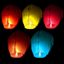 5PC Chinese Wishing Paper Sky Lanterns Flying Balloons with Fuel For Birthday Party Wedding Decoration Farolillos Voladores Boda(China)